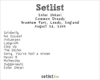 Enter Shikari Setlist Leeds Festival, Bramham Park 2009