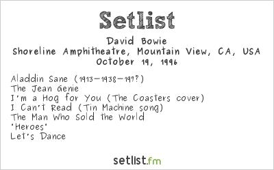 David Bowie Setlist Bridge School Benefit 1996 1996