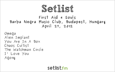 First Aid 4 Souls Setlist Industrial Booom - Reboot 2012 2012