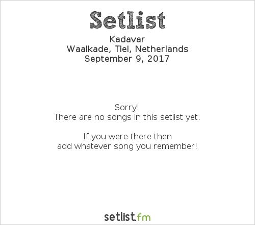 Kadavar Setlist Appelpop 2017 2017