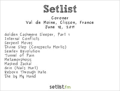 Coroner Setlist Hellfest 2017 2017