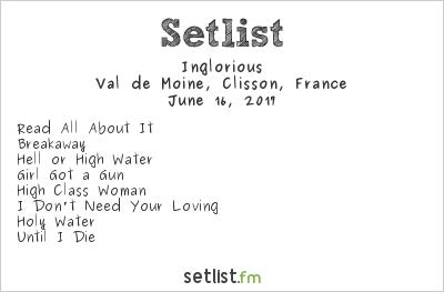 Inglorious Setlist Hellfest 2017 2017
