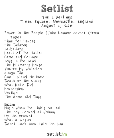 The Libertines Setlist Live from Times Square 2017 2017