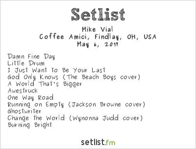 Mike Vial Setlist Coffee Amici, Findlay, OH, USA 2017