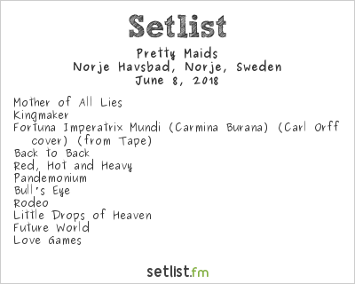 Pretty Maids Setlist Sweden Rock Festival 2018 2018