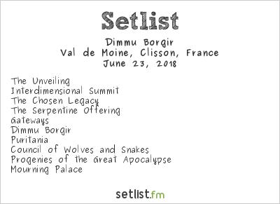 Dimmu Borgir Setlist Hellfest 2018 2018