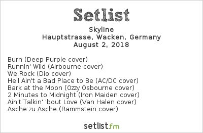 Skyline Setlist Wacken Open Air 2018 2018