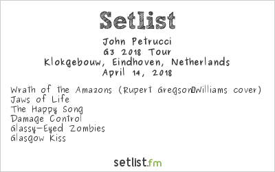 John Petrucci Setlist Klokgebouw, Eindhoven, Netherlands 2018, G3 2018 Tour