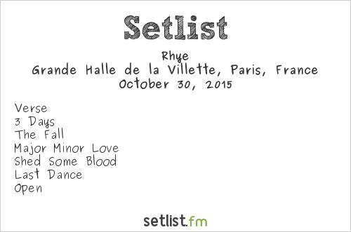 Rhye Setlist Pitchfork Music Festival 2015 2015