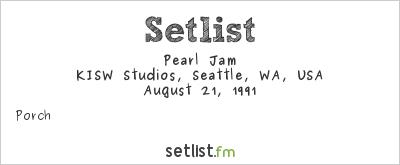Pearl Jam Setlist KISW Studios, Seattle, WA, USA 1991