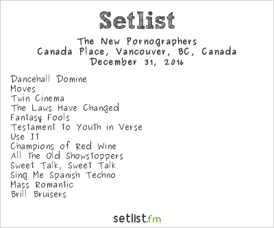 The New Pornographers Setlist Canada Place, Vancouver, BC, Canada 2016