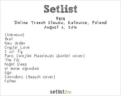 Rysy Setlist Off Festival 2016 2016
