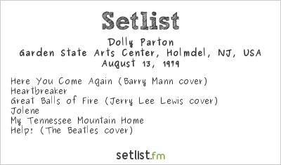 Dolly Parton Setlist Garden State Arts Center Holmdel Nj