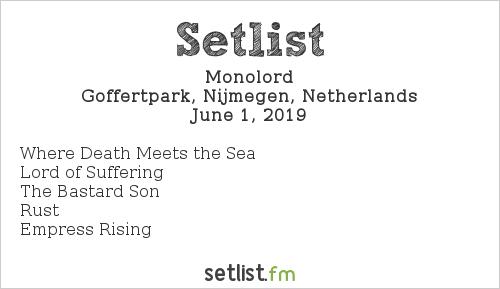 Monolord Setlist FortaRock 2019 2019