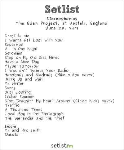 Stereophonics Setlist Eden Sessions 2019 2019