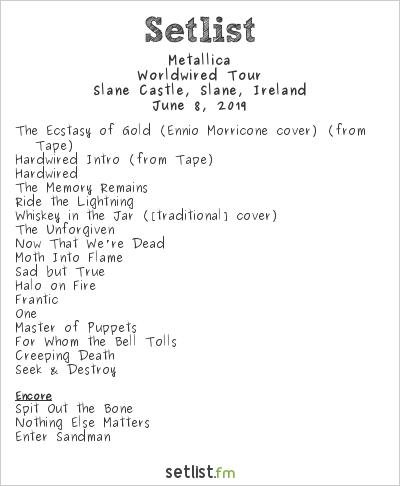 Metallica Setlist Slane Festival 2019 2019, Worldwired Tour