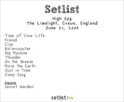 High Spy Setlist The Limelight, Crewe, England 2009