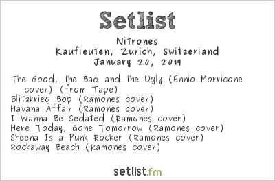 Nitrones Setlist Kaufleuten Zurich Switzerland 2019