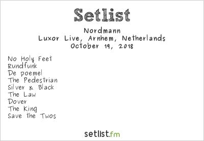 Nordmann Setlist Luxor Live, Arnhem, Netherlands 2018