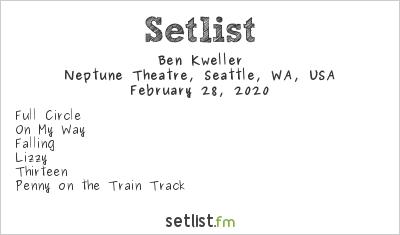 Ben Kweller Setlist Neptune Theatre, Seattle, WA, USA 2020