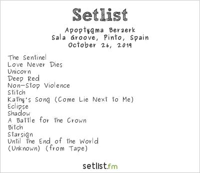 Apoptygma Berzerk at Sala Groove, Pinto, Spain Setlist