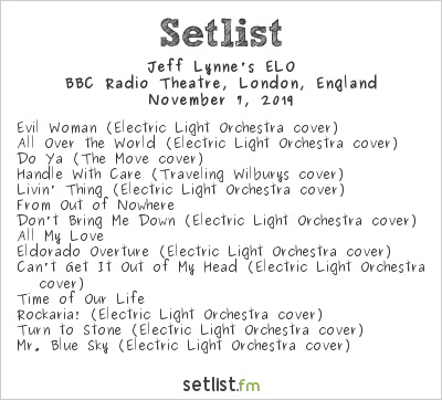 Jeff Lynne's ELO Setlist BBC Radio Theatre, London, England 2019