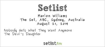 Marlon Williams Setlist The Set, ABC, Sydney, Australia 2019