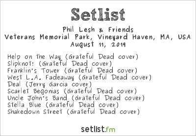 Phil Lesh & Friends Setlist Beach Road Weekend 2019 2019