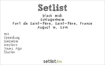 black midi at La Route du Rock 2019 Setlist