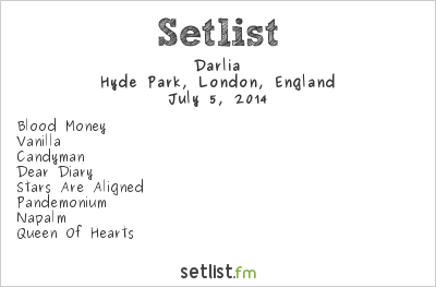 Darlia Setlist British Summer Time 2014 2014