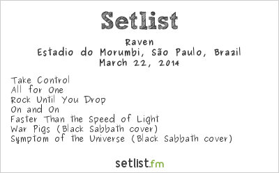 Raven Setlist Estádio do Morumbi, São Paulo, Brazil 2014, Metallica by Request