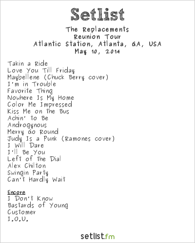 The Replacements at Shaky Knees Music Festival 2014 Setlist