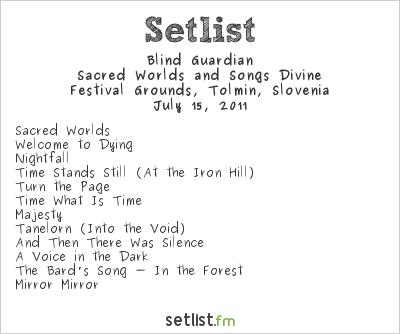 Blind Guardian at Metalcamp 2011 Setlist