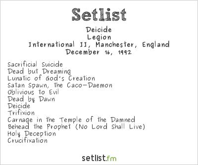 Deicide Setlist International II, Manchester, England 1992, Legion