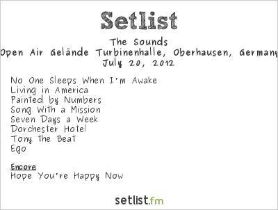 The Sounds Setlist Devil Side Festival 2012 2012