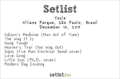 Tesla Setlist Solid Rock São Paulo 2017 2017