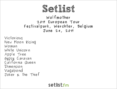 Wolfmother Setlist TW Classic Festival 2017 2017