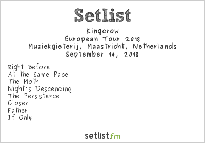 Kingcrow Setlist Muziekgieterij, Maastricht, Netherlands, European Tour 2018