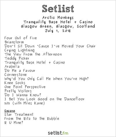 Arctic Monkeys at TRNSMT Festival 2018 Setlist