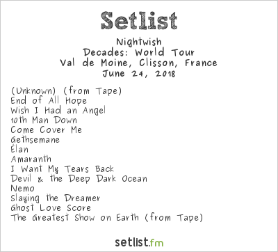Nightwish Setlist Hellfest 2018 2018, Decades: World Tour