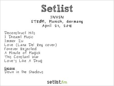 INVSN Setlist STRØM, Munich, Germany 2018
