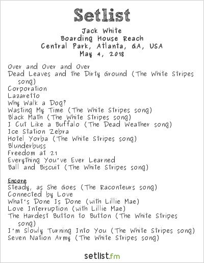 Jack White at Shaky Knees Music Festival 2018 Setlist