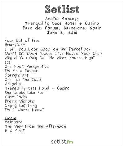 Arctic Monkeys Setlist Primavera Sound 2018 2018, Tranquility Base Hotel + Casino Tour
