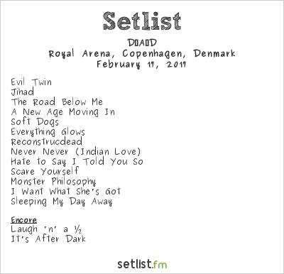 D-A-D Setlist Royal Arena, Copenhagen, Denmark 2017