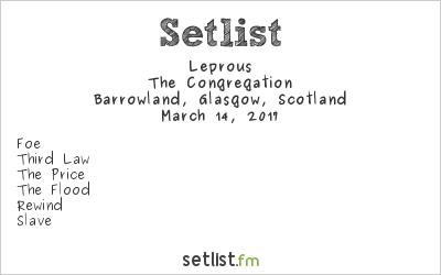 Leprous Setlist Barrowland, Glasgow, Scotland 2017