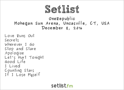 OneRepublic Setlist 96.5 Tic All Star Christmas 2016 2016